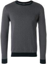 Giorgio Armani embroidered fitted sweater