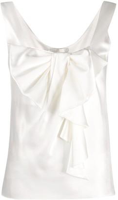 Alberta Ferretti Bow Front Sleeveless Blouse