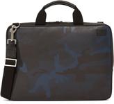 Jack Spade Camo Dot Leather Slim Briefcase