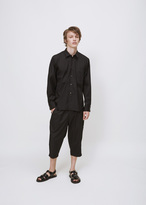 Comme des Garcons black french cuff shirt