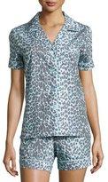 BedHead Wild Thing Shorty Pajama Set, Gray/Aqua, Women's