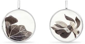 J.Y. Gao Lotus Pond Embroidery Earrings Sterling Silver