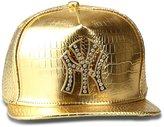 AlwaysBling® Hip Hop Alligator Pattern Unisex 4 Colors NY Tag Baseball Cap
