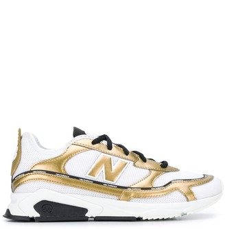 New Balance gold-tone detail sneakers