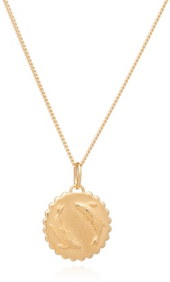 Rachel Jackson London Zodiac Art Coin Pisces Necklace Gold