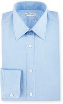 Charvet Small Check Dress Shirt, Blue