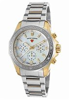 Swiss Legend Women's 'Islander' Swiss Quartz Stainless Steel Casual Watch, Color:Two Tone (Model: 16201SM-SG-22)