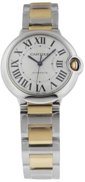 Cartier Ballon Bleu W6920047 Stainless Steel Gold Medium Automatic Watch