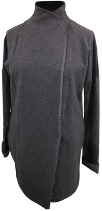 Humanoid Grey Cotton Jacket for Women