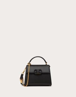 Valentino Mini Vsling Grainy Calfskin Handbag Women Black 100% Pelle Di Vitello - Bos Taurus OneSize