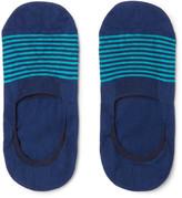Pantherella Striped Cotton-Blend No-Show Socks