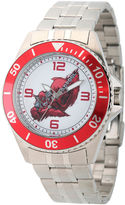 Marvel Mens Deadpool Silver-Tone and Red Honor Bracelet Watch