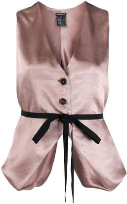 Ann Demeulemeester V-beck belted waistcoat