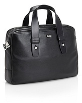 HUGO BOSS Bildon Textured Leather Workbag - Black