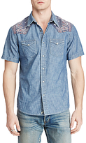 Denim & Supply Ralph Lauren Short Sleeve Cowboy Chambray Shirt, Antique Chambray