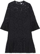 Valentino Ruffled Cotton-blend Corded Lace Mini Dress