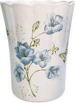Lenox Blue Floral Garden Wastebasket