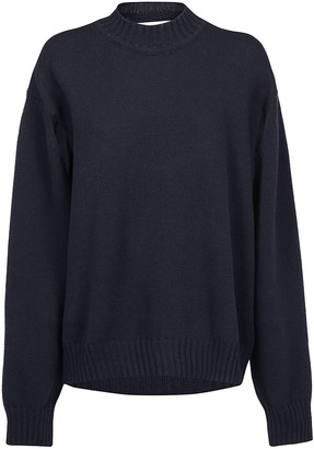 Jil Sander Cut Out Sleeve Detail Pullover