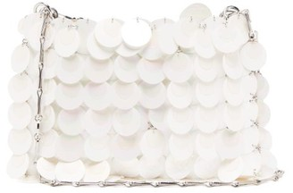 Paco Rabanne Iconic 1969 Sequinned Shoulder Bag - White