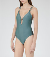 Reiss Amara Cross-Back Swimsuit