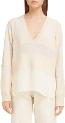 Chloé Stripe Wool, Silk & Cashmere Sweater