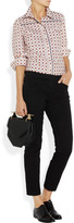J Brand Piper cropped brushed cotton-blend twill pants