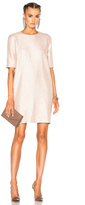 Lanvin Shift Dress in Pink,Neutrals,Metallics.