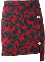 Versus camouflage fitted skirt