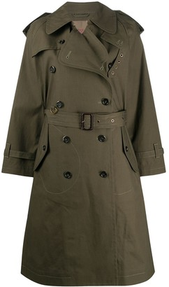Marc Jacobs Stitch Detail Cotton Trench Coat