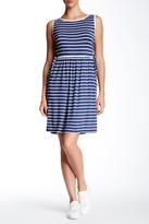 Max Studio Sleeveless Stripe Jersey Dress
