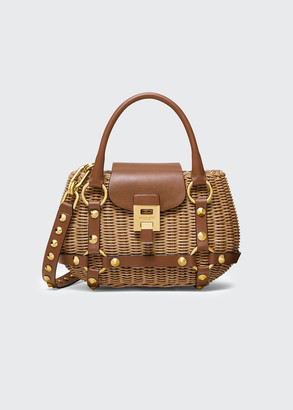 Michael Kors Rattan Mini Harness Basket Bag