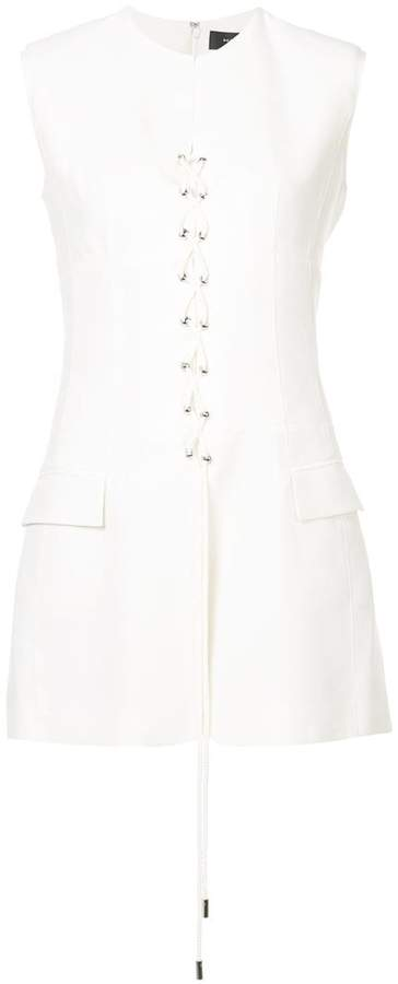 Derek Lam Tuxedo Vest with Lacing Detail