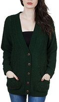 Purple Hanger Women's Long Sleeve Cable Knit Knitted Boyfriend Cardigan 8-10