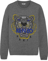 Kenzo Tiger Embroidered Cotton-jersey Sweatshirt - Anthracite