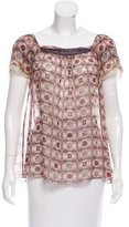 Philosophy di Alberta Ferretti Printed Silk Blouse w/ Tags
