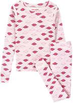 Joe Fresh Kid Girls' All Over Print Sleep Set, Light Pink (Size XL)