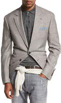 Brunello Cucinelli Prince of Wales Wool-Blend Sport Coat, Brown