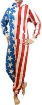 SkylineWears Womens Onesie Fashion Flag Playsuit Ladies Jumpsuit Gray XL