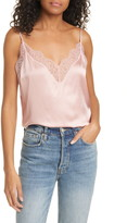 CAMI NYC The Daisy Lace Trim Silk Cami