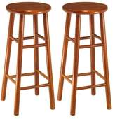 Winsome Wood Assembled 30-Inch Finish Bar Stools, Set of 2