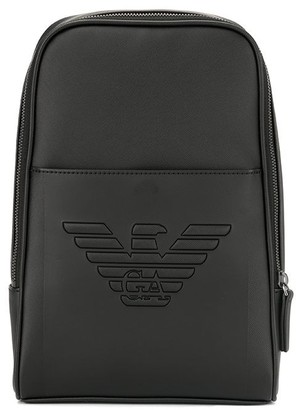 Emporio Armani engraved logo backpack