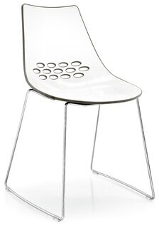 Connubia Jam Metal Side Chair Finish: White/Glossy Nougat