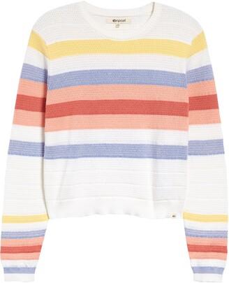 Rip Curl Golden State Stripe Cotton Sweater