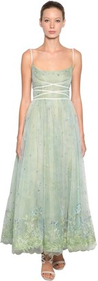 Luisa Beccaria Embroidered Tulle Dress
