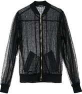Sophie Theallet sheer bomber jacket - women - Silk/Polyester - 6