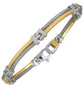 Forzieri DiFulco Line Gold and Stainless Steel Link Bracelet