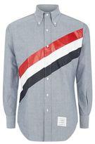 Thom Browne Coated Tricolour Stripe Oxford Shirt