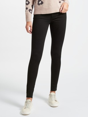 7 For All Mankind Rozie High Rise Slim Illusion Straight Leg Jeans, Black