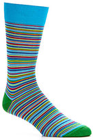 Daniel Cremieux Mercerized Thin Stripe Crew Dress Socks