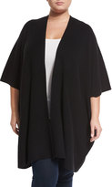Tart Cambell Cape-Sleeve Wrap Cardigan, Black, Plus Size